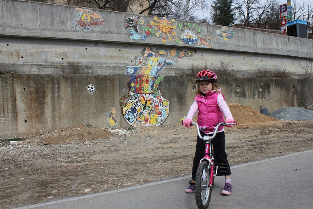 Anna on her bike