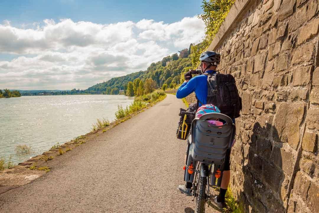 Biking on the River Rhine