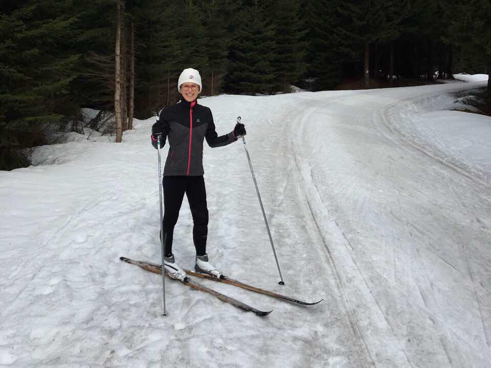Emily skiing