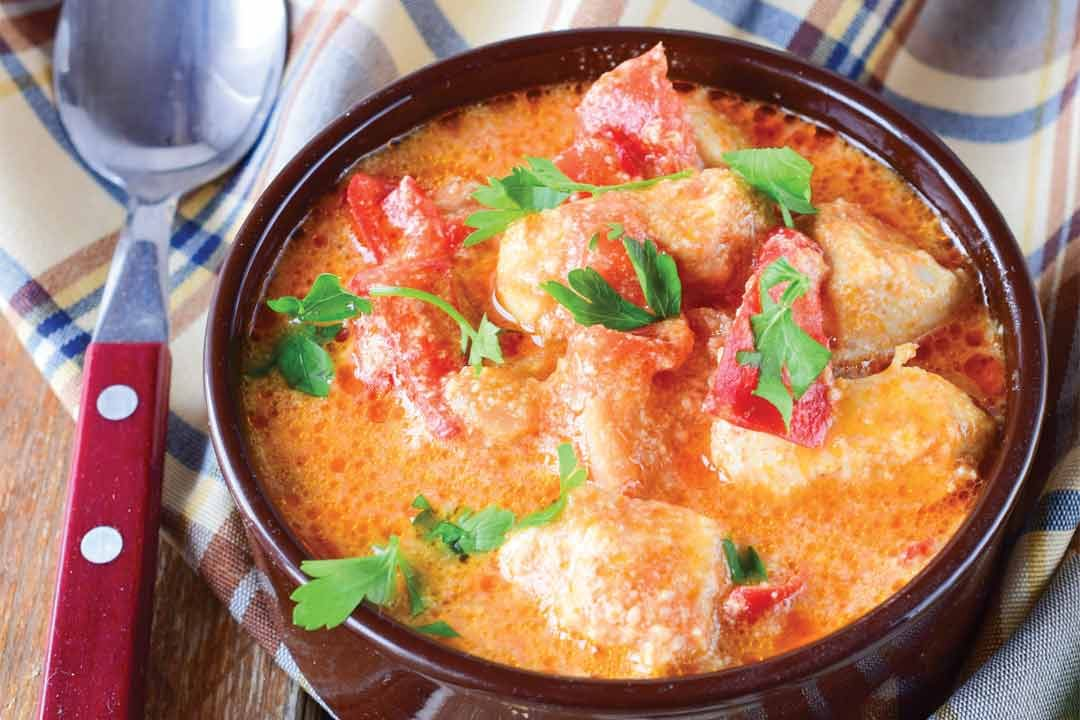 Rabbit in Cream Paprika Sauce