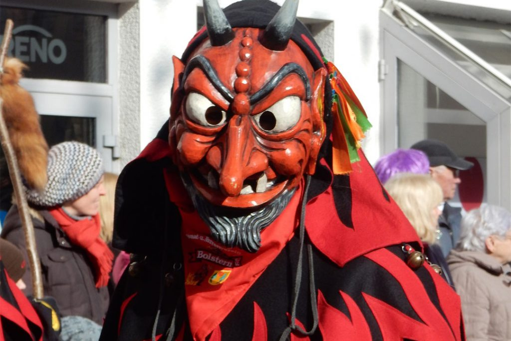 Man in devil costume