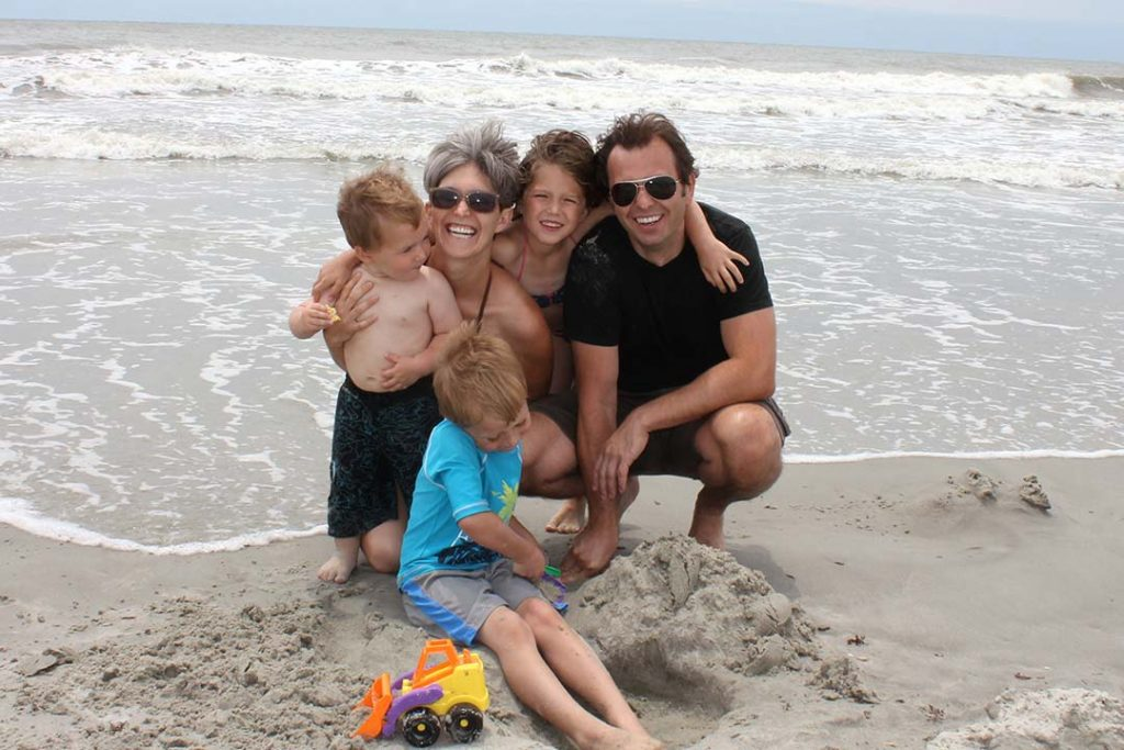 Emily and family at the beach