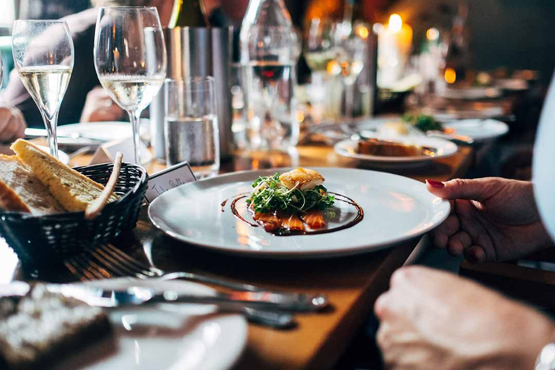 Gourmet meal and white wine photo by Jay Wennington (@jaywennington) on Unsplash