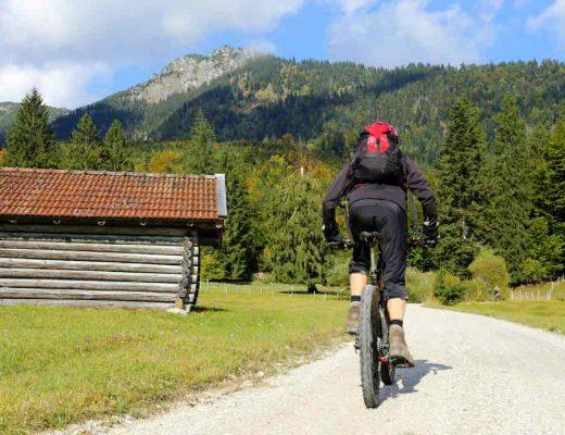 Mountain biker in the Alps
